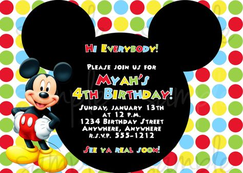 256 best New Invitations images on Pinterest Birthday invitation - mickey mouse invitation template