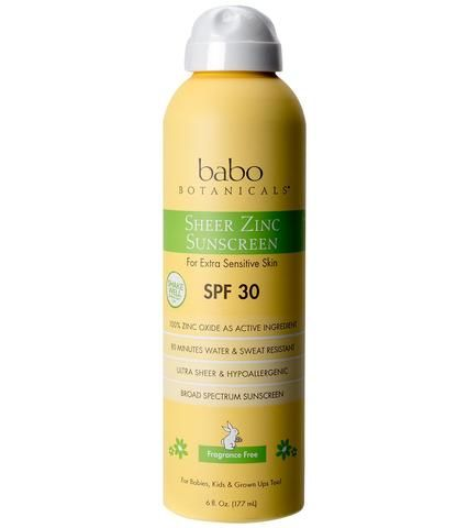 Spf 30 Sheer Zinc Continuous Spray Sunscreen Spray Sunscreen Fragrance Free Products Spf 30