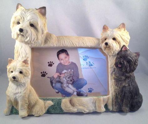 Cairn Terrier Dog Photo Frame Resin 4 X 6 Desk Animal Picture