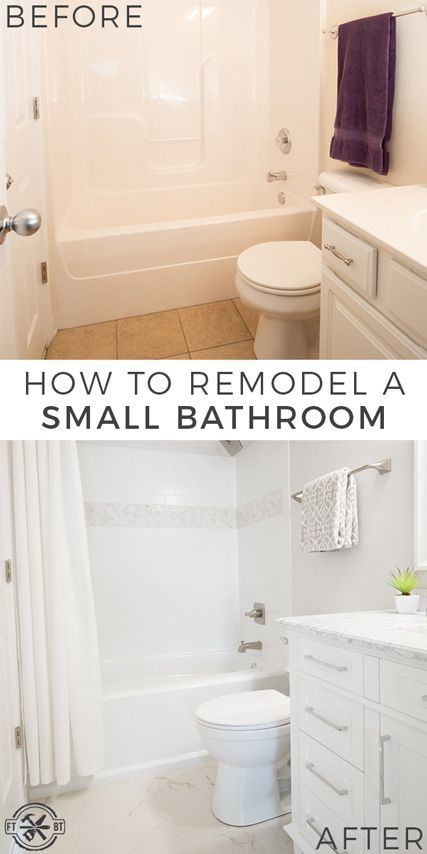 How To Remodel A Small Bathroom Small Bathroom Remodel With Tub Renovating A Small Bathro Bathroom Remodel Small Diy Small Bathroom Remodel Tub Remodel