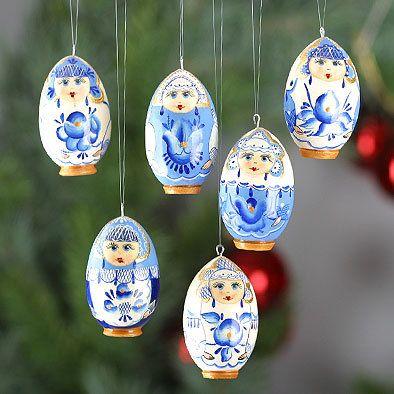 Blue Flower Girls Ornaments Set   Russian Christmas   Pinterest   Ornaments,  Christmas Ornaments and Christmas - Blue Flower Girls Ornaments Set Russian Christmas Pinterest