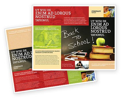 Back To School Brochure Template #02867 Brochure-Newsleter-Email - free flyer template word