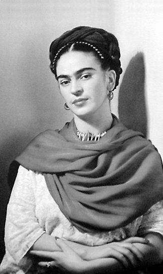 Negatives Foto Fotodruck Portrait Frida Kahlo Portrait