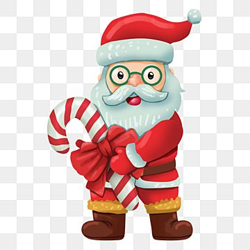 Santa Claus Holding Giant Candy Canes Christmas Merry Christmas Element Png Transparent Clipart Image And Psd File For Free Download Giant Candy Cane Candy Cane Santa Claus
