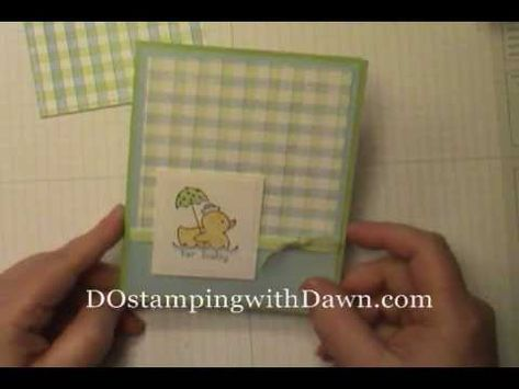 gingham using embossing folder. Carole, this is for us!
