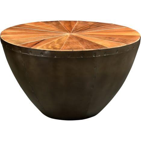 Rendez Vous Deco Table Basse Ronde Hisar O80 Cm Table Basse Ronde Table Basse Deco Table Basse