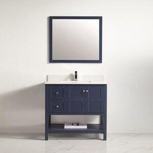 34++ Lowes blue bathroom vanity diy
