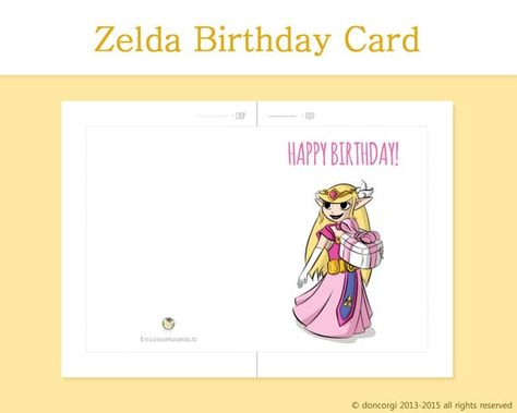 Zelda Has A Gift For You Happy Birthday Printable Card Of Legend