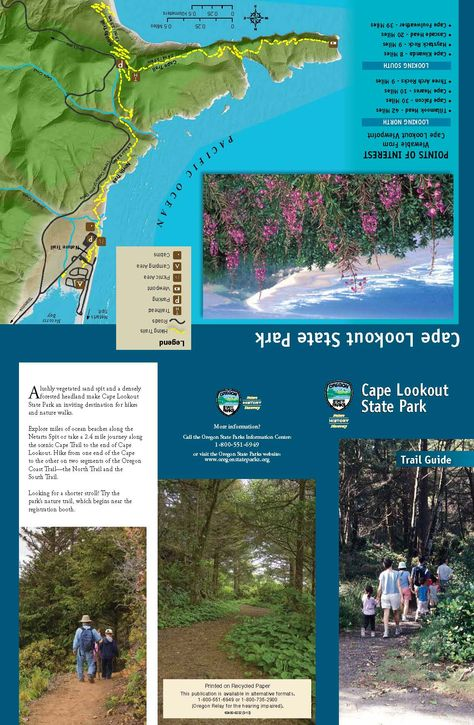 Cape Lookout State Park trail guide, by the Oregon Parks and Recreation Department