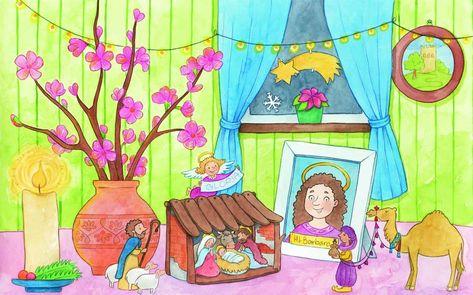 Wenn Alles So Lauft Wie Geplant Bluhen Sie An Heiligabend Die Legende Der Heiligen Barbara Wird Leben Heilige Barbara Kirschblutenzweige Kinder Krippe