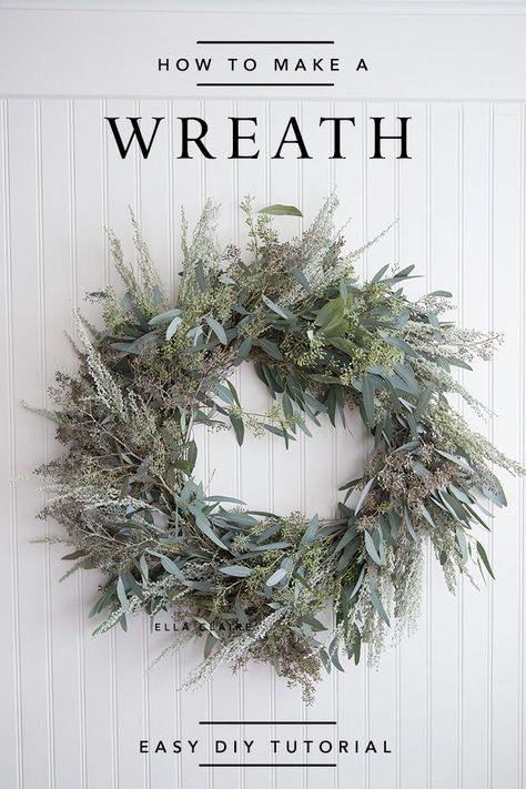 How to make a live Wreath- an easy tutorial for a beautiful fresh wreath made from inexpensive greens- perfect for Christmas or many holidays.