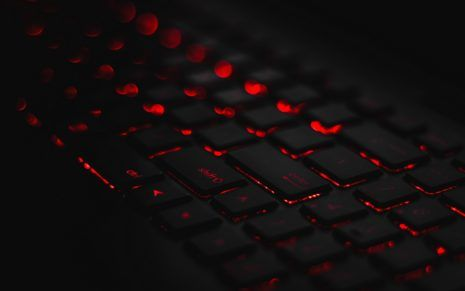 Qwerty Black Keyboard With Red Lights Black Wallpaper Backgrounds Desktop Latest Wallpapers