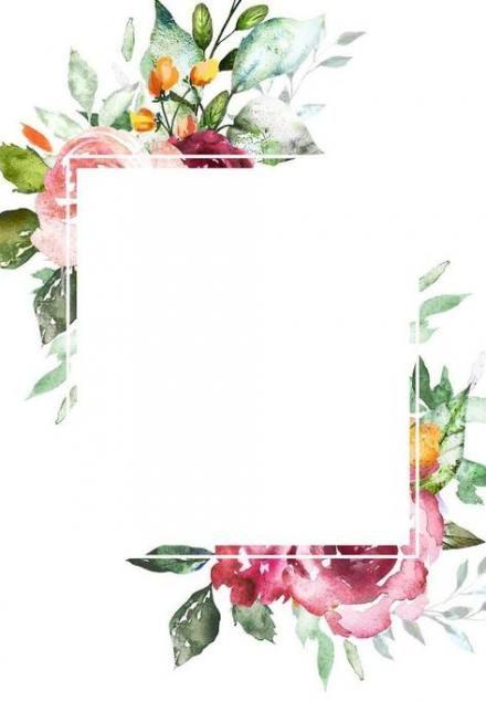 New Flowers Wedding Invitations Template 27 Ideas Flower Frame Flower Backgrounds Floral Border