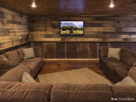 10 Must Have Items For The Ultimate Man Cave Farm House Living Room Rustic Basement New Homes