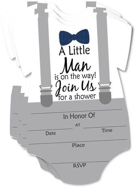 Little Man Blank Fill In Invite Baby Shower Invitation 10   Etsy