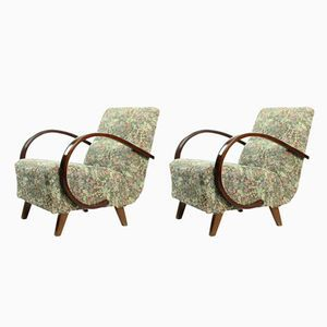 Vintage Armchairs By Jindrich Halabala 1950s Set Of 2 Armchair