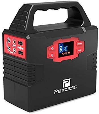 Amazon Com 100 Watt Portable Generator Power Station 40800mah 151wh Cpap Battery Pack Home C Portable Solar Generator Solar Generator Portable Power Supply