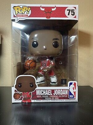 Funko Pop Sports Michael Jordan Red 10 Inch Vinyl Figure In 2020 Jordan Red Michael Jordan Vinyl Figures