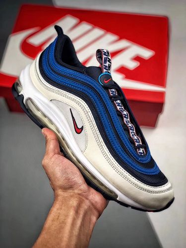 Nike Air Max 97 OG QS White Blue Red 884421 001 Mens Sneakers 884421 001f