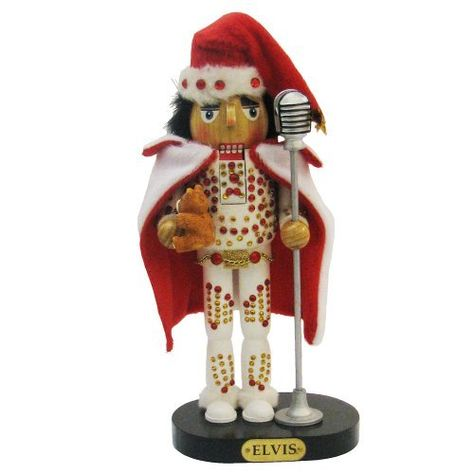 Elvis Presley Kurt Adler Elvis in White Suit Nutcracker, >>> Discover this special deal, click the image : Christmas Home Decor