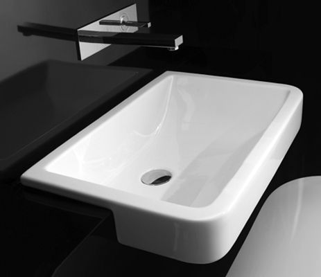 Q40 Semi Recessed By Studio Bagno Wash Basin Basin Semi