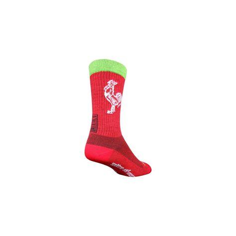 Red SM//MD SockGuy Wool Sriracha Sock