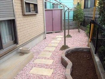 おしゃれな砂利のお庭施工事例一覧 川越でエクステリア 新築外構工事