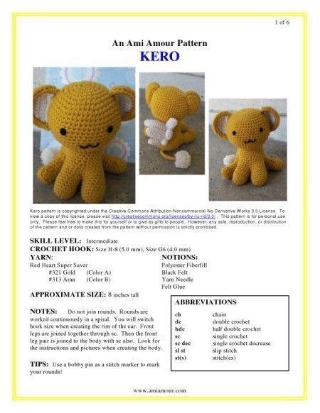 Crochet patterns free amigurumi anime 24+ Ideas in 2020 (mit ... | 582x450