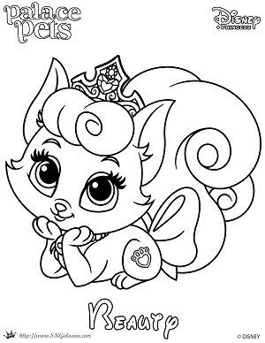 Free Coloring Page Featuring Beauty From Disney S Princess Palace
