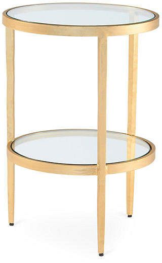 Laforge Two Tiered Side Table Gold With Images Side Table Table Farmhouse Style Decorating