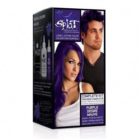 Splat Purple Desire Hair Color Kit Semi Permanent Purple Hair Dye Walmart Com Splat Hair Dye Semi Permanent Hair Dye Permanent Hair Color