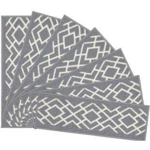 Tucker Murphy™ Pet Beauvais Elipse Stair Tread Wayfair Stair | Wayfair Carpet Stair Treads | Tucker Murphy | Carpet Runners | Oaks Godinez | Stair Railing | Beige Carpet