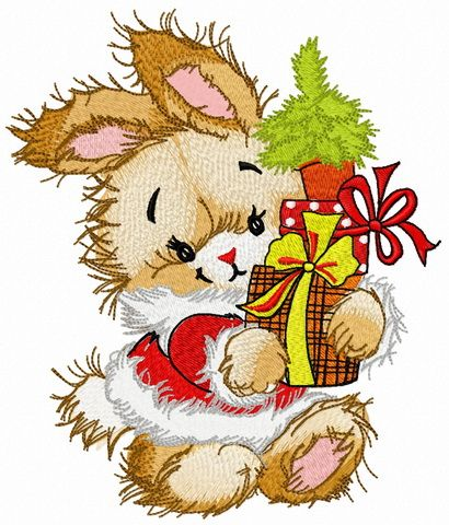 Bunny S New Year Embroidery Design Machine Embroidery Patterns Embroidery Projects Machine Embroidery