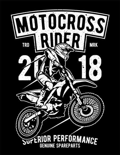 Piloto de motocross Vetor Premium | Premium Vector #Freepik #vector #esportes #motocicleta #motocross #cavaleiro