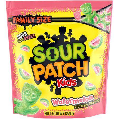 Sour Patch Kids Watermelon Soft Chewy Candy Family Size 1 8 Lb Bag Walmart Com Sour Patch Kids Sour Patch Watermelon Sour Patch