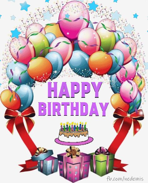 Happy Birthday Greeting balloon gif - Gif - Birthday Greeting