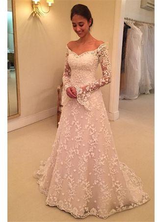 Fashion Hochzeitskleider Fur Mollige Mit Armel Gunstige Brautkleider A Linie Modellnummer Ww0108 Kleider Hochzeit Festliche Kleider Hochzeit Brautkleid Gunstig