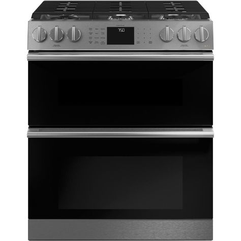 Cafe 30 In 6 7 Cu Ft Slide Double Oven Gas Range With Self