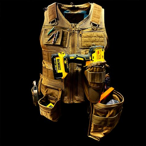 Atlas 46 is the premium manufacturer of tool vests, tool belts, tool rolls and workwear made in the USA. Tool Apron, Dewalt Power Tools, Tool Belt, Tool Pouch, Tool Shop, Garage Tools, Cool Gear, Work Tools, Tool Storage