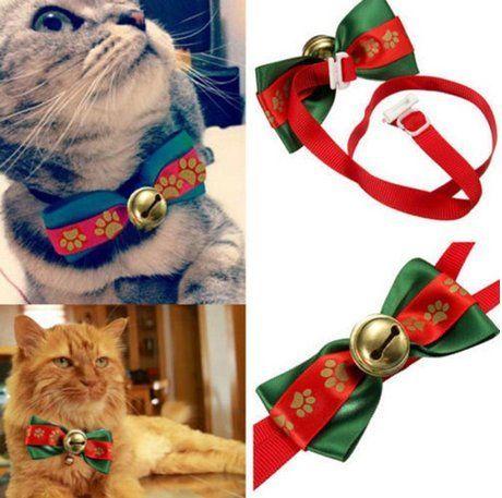 Yosoo Pet Christmas Party Fair Isle Style Dog Cat Pet Bow Tie ...