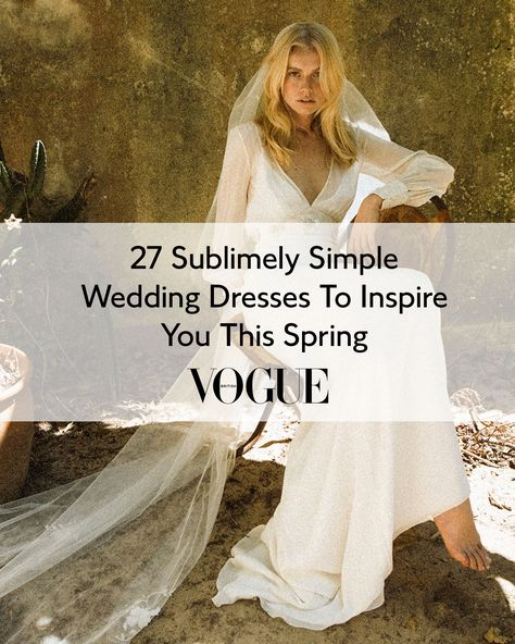 If you are a bride-to-be who's never really dreamt of wearing a frothy dress on your big day, who favours low-key over fussy, then the minimalist wedding dress is for you. It's a style that's timeless, chic and glorious in its simplicity. And for those whose wedding plans have been postponed or altered due to the pandemic, it's a great understated option for a low-key initial ceremony, one that leaves room for a maximalist gown for a bigger celebration down the line.