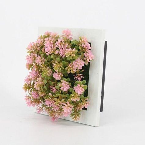 New 3d Handmade Metope Succulent Plants Imitation Wood Photo Frame