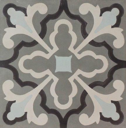 Noga Cement Florence Sh047 7 Patterned Tile 8x8 In 2020 Cement Tile Tile Patterns Tiles