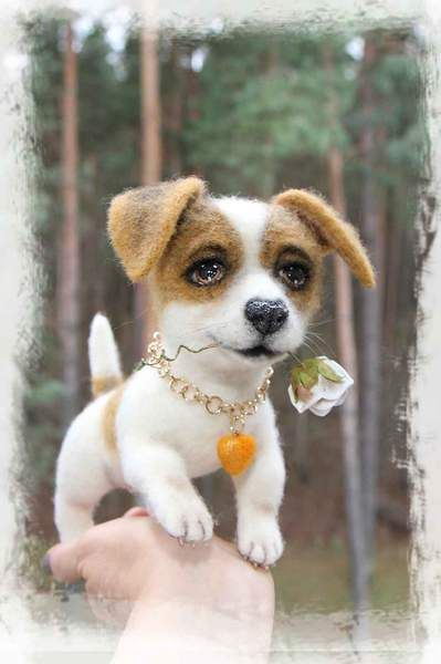 Alfie The Jack Russell Te By Jelena K Needle Felted Dogs