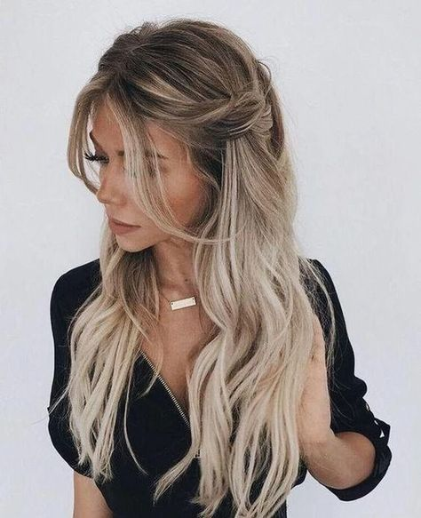 Long Wavy Black White Ombre Synthetic Wigs for Women Princess Hair Hal – roseshaper
