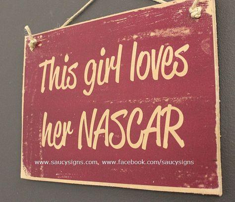 This Girl Loves Her Nascar Sign on Etsy, $14.38