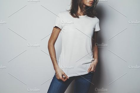 Mockup of white cotton tshirt by Yana_Production on