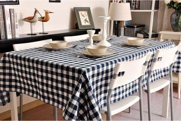 Blue Plaid Buffalo Check Tablecloth Overlay Plaid Table Cloth Table Topper Farmhouse Cottage Country Decor Cottage Kitchens Farmhouse Table Decor