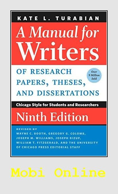 A Manual For Writer Of Research Paper These And Dissertation Ninth Thesis Term Dissertations