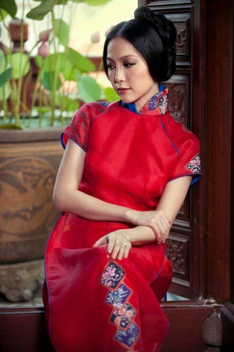 Yellow Silk 3D Vietnamese Ao Dai Long Dress with pants   eBay